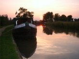 Our Canal boat at Sunset
