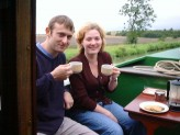 Hayley and Asher on Canal Boat
