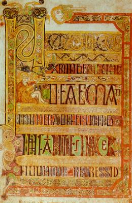 A page from the Book of Kells