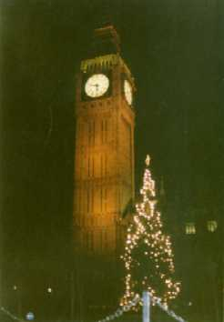 Big Ben and Xmas Tree @ night