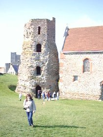 Leonie at Roman Light House @ Dover Castle