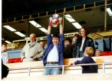 Lindsay @ Wembley collecting Winners Trophy