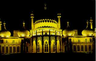 The Royal Pavillion @ night in Brighton