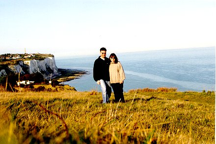 Leonie and I @ the Cliffs of Dover