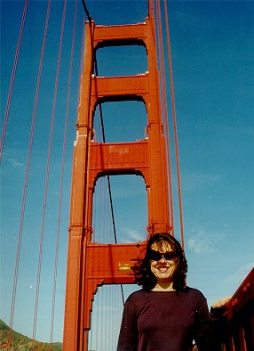 Leonie on the Golden Gate Bridge SFO